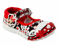 GIRLS OFFICIAL MINNIE MOUSE CANVAS CASUAL PUMPS SHOES TRAINERS INFANTS SIZE 4-10