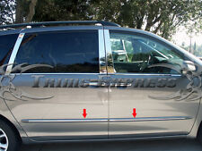 2004-2010 Toyota Sienna LTD ONLY 4Pc Chrome Body Side Moulding Trim Overlay