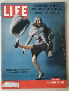 Life Magazine November 12 1956 Rosaline Russell Auntie Mame Complete Car Ads