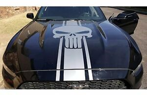 Punisher-Decal-Hood-Stripe-For-Mustang-Shelby-GT-Vinyl-Graphics-Racing-Art-Decal