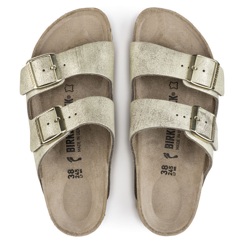 Birkenstock arizona washed metalizado Cream oro 1008798 sandalias haussch. nuevo