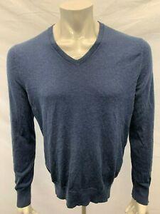 Details about Banana Republic SilkCottonCashmere Sweater Men's Medium Blue Long Sleeve