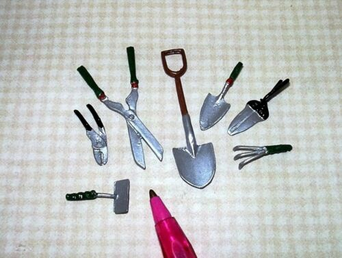 Non-Moving Miniature Falcon 7-Piece Garden Tool Set DOLLHOUSE Miniatures 1:12