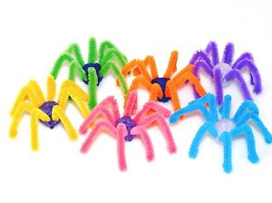 6-X-PIPECLEANER-SPIDER-CAT-KITTEN-TOY