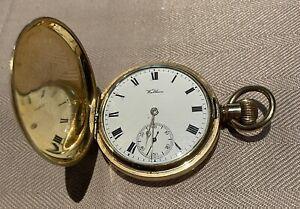 Antique-Rolled-Gold-Waltham-Hunter-Working-Pocket-Watch