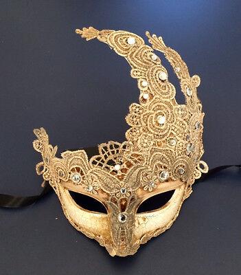 Venetian Masquerade Costume Ball Prom Party Wedding Cream Lace Ivory eye Mask