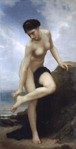 Grosses-Olgemaelde-bourguereau-schoene-junge-Frau-nach-dem-Bad-von-Ocean-36-034
