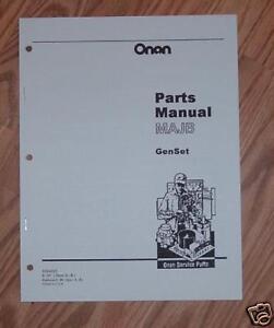 onan majb marine genset illistrated parts catalog manual 933 0221 ebay rh ebay com Old Onan Engines Onan Generator Parts Diagrams