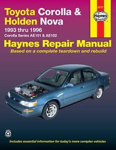 Toyota-Corolla-AE101-AE102-1993-1996-Holden-Nova-LG-1994-1997-Repair-Manual