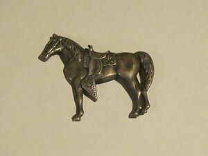Horse sterling silver pin brooch