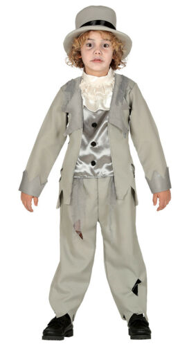 Boys Victorian Ghost Costume Halloween Zombie Fancy Dress Outfit AGE 3-12 NEW