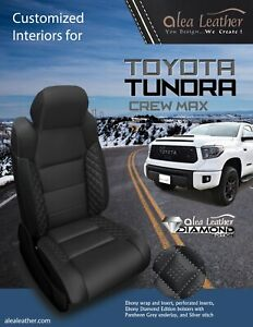 Fabulous Details About 2014 2019 Toyota Tundra Crewmax Alea Diamond Edition Leather Seat Covers Black Pabps2019 Chair Design Images Pabps2019Com