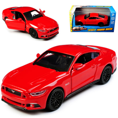 Ford Mustang VI Coupe Rot Ab 2014 mit Rückzugsmotor ca 1//43 1//36-1//46 Maisto M..