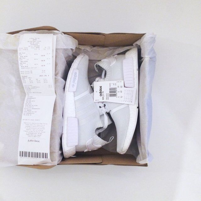 Adidas NMD R1 Runner Primeknit PK Boost Triple White Monochrome UK UK Monochrome Size 6 BNIB 8be240