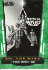 Star Wars 40th Anniversary Green Base Card #88 Original Trilogy Released on DVD