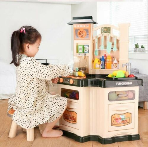 Pretend Playset Toy Kitchen Play Set Baker Kids Cooking Girl