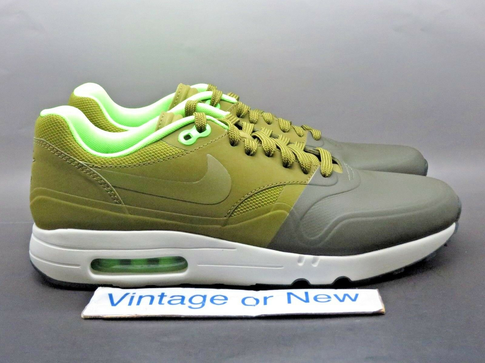 DS Nike Air Max 1 Ultra 2.0 SE Cargo Khaki Militia Green Running 875845-300 sz 9
