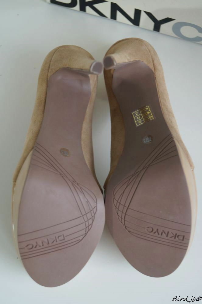 DKNY FARLEY CAMEL / BEIGE LEATHER COURTS HIGH HEELS 37.5 SIZE UK 4.5 EU 37.5 HEELS NEW 459e0b