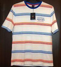 Paul & Shark AUTHENTIC Men's White Striped Italy Cotton T-Shirt Shirt Sz L $210