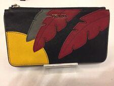 Prada Saffiano Lux Sun Nero Clutch Pouch Wallet  Pochette Leather