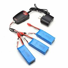 3pcs 2S 7.4V 2000mAh Batteries+Charger For Syma X8C X8W X8G RC Quadcopter Drone