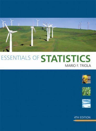 Triola Statistics: Essentials of Statistics by Mario F. Triola (2010, CD-ROM / …