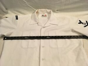 Flying-Cross-US-Navy-Twill-Uniform-Poly-White-Button-XLarge-Short-Sleeve-Shirt