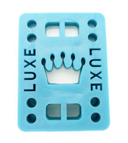"""2 pcs Luxe 1//4/"""" Straight Wall Skateboard Longboard Riser Pads BLUE"""
