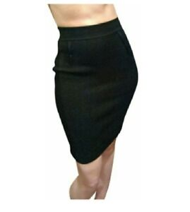 314bfe63415d20 Dolce   Gabbana Black Pleated Sweater Knit Bodycon Pencil Skirt Size ...