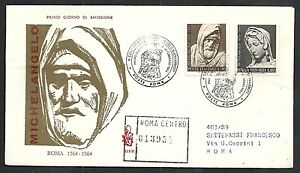 1964 Italia Fdc Venetia 211 Michelangelo - No Timbro Di Arrivo - It6 Construction Robuste