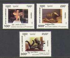 Cambodia 1991 Statues/Sculptures 3v set (n21011)