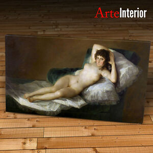 Details About Francisco Goya Framework Maja Desnuda Print On Canvas Canvas Gift Idea Furniture Show Original Title