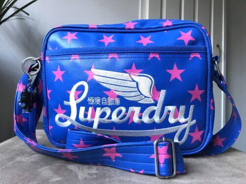 rosa con tracolla a media stelle Blue Superdry a tracolla borsa con xPZwSnCqUv