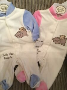 Newborn-Baby-Girls-Boys-Romper-Baby-Grow-Girls-Boys-Pink-Blue-Rompers-0-9-Mths