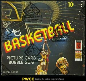 1972 Topps Basketball Wax Box, 24ct Wax Packs, Phil Jackson Erving RC? BBCE AUTH