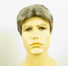 Perruque homme 100% cheveux naturel gris poivre et sel ref JACK 44