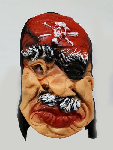 Latex Adult Scary Pirate Latex Mask Halloween Dress Prank Fancy Costume UK Stock