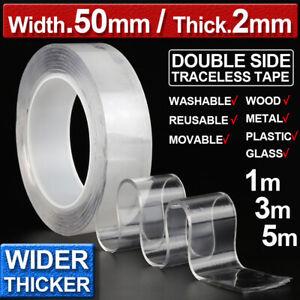 Nano-Magic-Tape-Double-Face-Antislip-Invisible-Lavable-Adhesif-Gel-Ruban-Rouleau