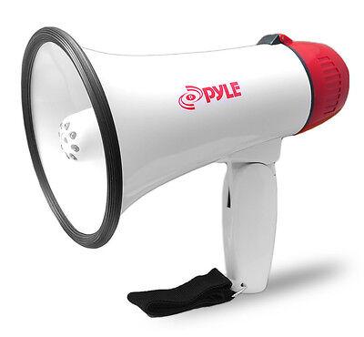 NEW Microphone Bull Horn.Public Speech Tool.Protest.Megaphone w// Siren.3.5mm