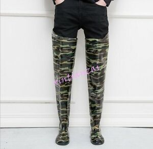 New 80 cm high mens rubber Over Knee High rain boots thigh boots ...
