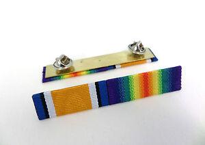 WW1-Medal-Ribbon-Bar-1914-1918-British-War-Medal-Victory-Full-Size