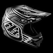 "2016 Troy Lee Designs AIR ""Scratch Black"" Medium MX Helmet TLD FREE S&H in US"