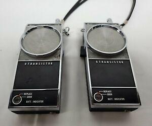 Vintage 1966 Sears Roebuck 9 Transistor Walkie Talkie Set of 2- Tested Works