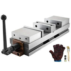 """6"""" Lockdown Vise CNC Vise Double Station For Milling Machine 2 Movable Jaws"""