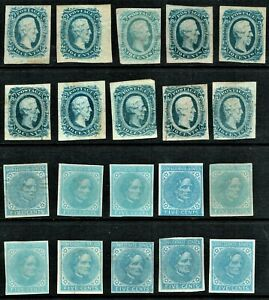 [*/25] Confederate States of America 1862-63 Select.on stock card (Mixte qualily