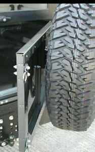 Genuine-Land-Rover-Defender-Wolf-Soft-Top-Mantec-Swing-Away-Spare-Wheel-Carrier