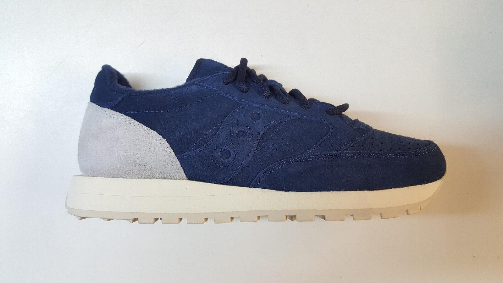 SAUCONY JAZZ Original Paquete de jardín de Boston Azul Marino gris Zapatillas para hombre Talla S70246-4