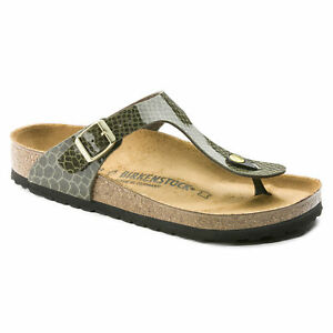 69235168dcb Image is loading Birkenstock-Birko-Flor-GIZEH-Magic-Snake-Khaki-BNIB-