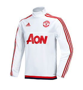 Image is loading Adidas-Manchester-United-Training-Top-Shirt-AC1968-Man-