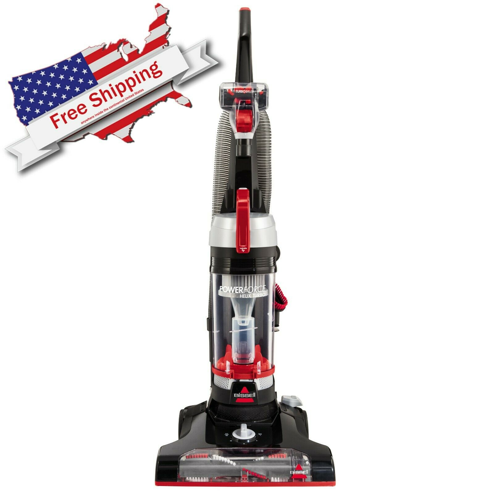 Vacuum Cleaner Helix Turbo Red Upright Home Garden Cleaning Wash House BISSELL